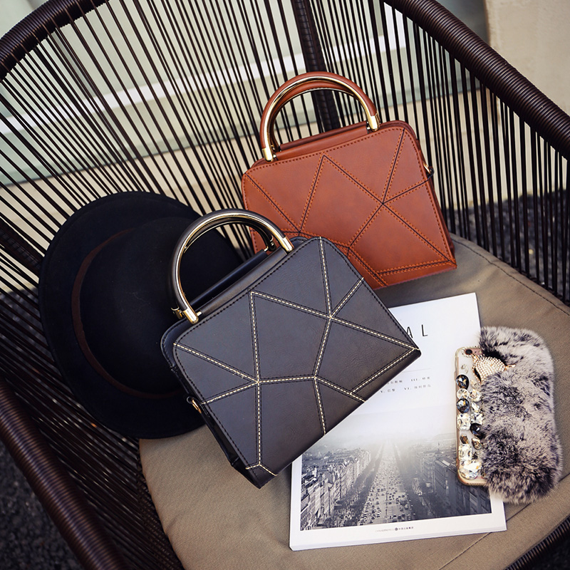 Yuhua, 2019 New Woman Handbags, Trend Leisure Messenger Bag, Simple Korean Version Women Bag, Retro Geometric Flap.