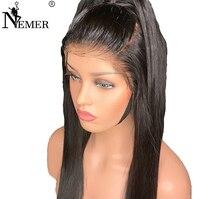 4,5x4,5 немерено Прямо Шелковый топ Full Lace человеческих волос 150% плотности отбеленные узлы бразильский Реми предварительно сорвал с для волос