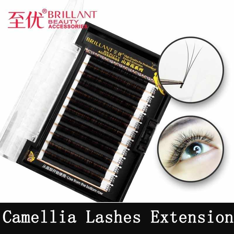 016b84ba3a9 ZHIYOU Camellia Hybrid Volume Mega Excellent Beautiful Grafting Eyelashes  Natural Soft Thick 3D6D9D Bloom Plant Eyelash