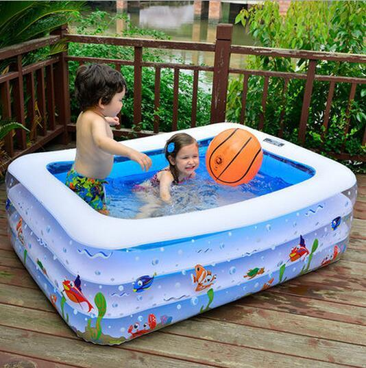 Family Pool Infant Swimming Pool Baby Child Oversized Inflatable Paddling Pool Kids Garden