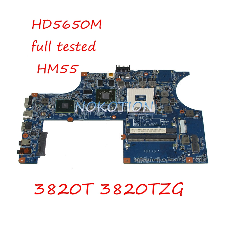 NOKOTION MBREM01002 MB.REM01.002 Laptop Motherboard For Acer asipre 3820T 3820TZG JM31-CP MB 48.4HL01.03M HD5650M HM55 DDR3 laptop motherboard for acer aspire 4743 4743g hm55 geforce gt540m mb rfh01 002 mbrfh01002 je43 cp mb 48 4ni01 02m mainboard