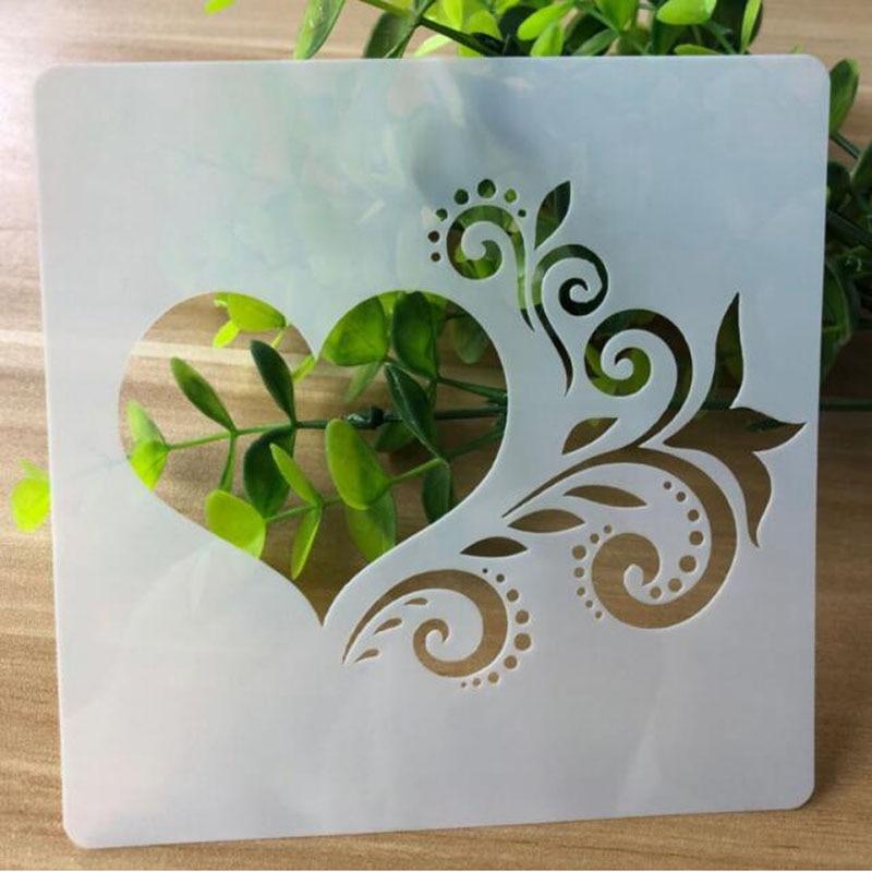 Stencil Heart Openwork Painting Template Embossing Craft Bullet Journal Accessories Sjablonen For Scrapbooking Adorn Reusable