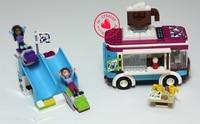 41319 Stazione Sciistica Cioccolata calda Car model Building Blocks Mattoni ragazze Giocattoli Per Bambini compatiable legoes amici regalo mattoni set