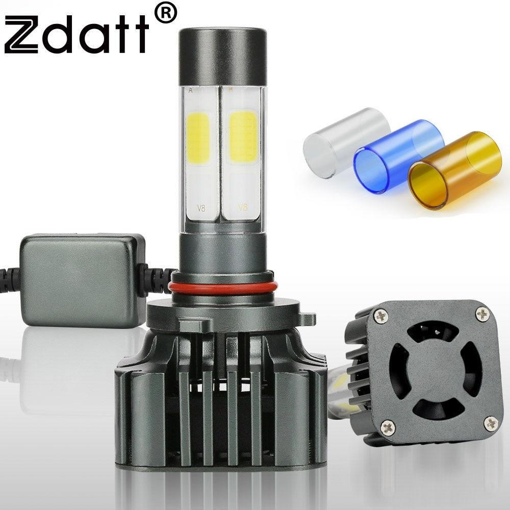 Zdatt COB HB4 9006 Bombilla Led 12V Bombilla de faro de coche 12000Lm 100W Faro delantero automático 3000K 6000K 8000K Kit de conversión de lámpara de luz automática