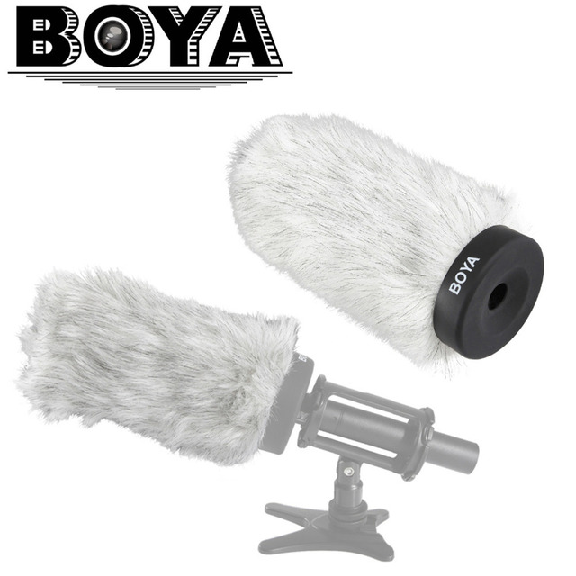 BOYA BY-P160 Furry Outdoor Interview Windshield Muff for Shotgun Capacitor Microphones