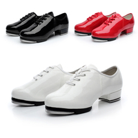 Brand New Hot Sale Patent Leather Clogging Tap Shoes For Men And Women Lace Up Size