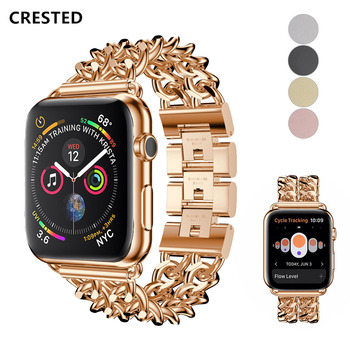 Link Bracelet strap For Apple Watch 5 band 44mm 40mm correa for apple watch 42mm 38 mm Stainless Steel for iwatch series 5 4 3 2