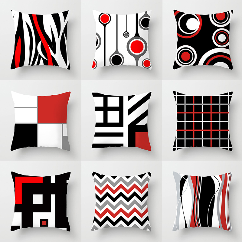 Simple Pillow Case Hot Sale Home  Popular Home Supplies Pillow Covers High Quality Comfortable Soft 1PC 45*45cm Geometric