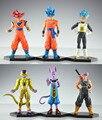 NUEVO 12-14 cm 6 unids/set Dragon Ball Resurrección 'F' golden Freezer Saiyan Goku batalla de dioses Teatro figura de acción juguetes