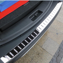 new Stainless steel Rear Bumper Sill/Protector Plate cover inner+outer 2pcs for Hyundai  New Santa Fe