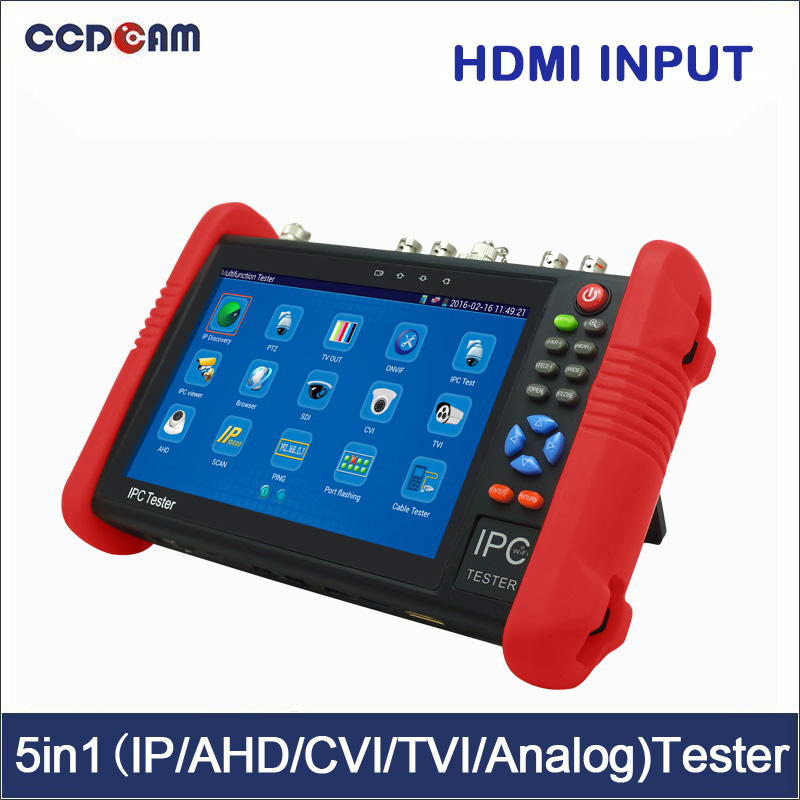 7 inch IPS touch screen 4K H.265 IP Full 4K All in One IPC Tester 8GB SD (multimeter, cable locator,TDR,HDMI input Optional) sd one 24 page 7