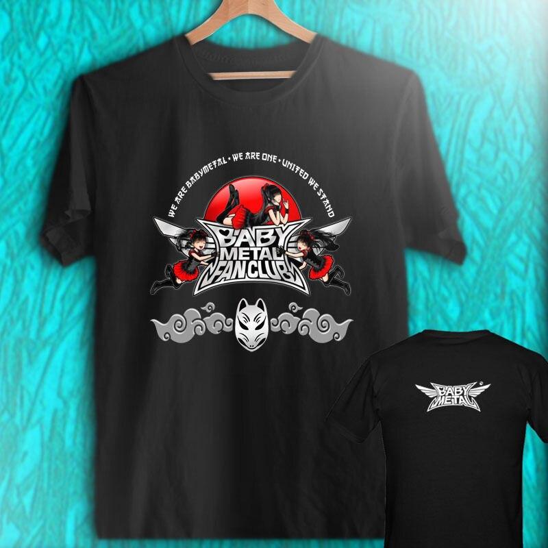Work Shirts Broadcloth Short Sleeve O-Neck Mens Babymetal Fans T Shirt