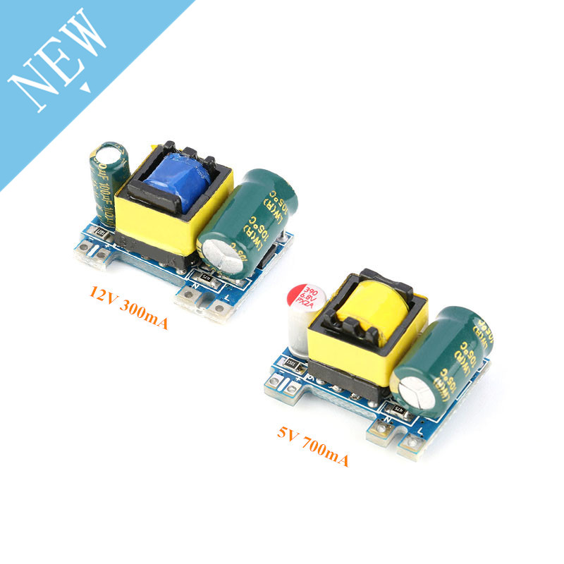 AC-DC 5V 700mA 12V 300mA 3.5W Isolated Switch Power Supply Module Buck Converter Step Down Module 220V turn 5V/12VAC-DC 5V 700mA 12V 300mA 3.5W Isolated Switch Power Supply Module Buck Converter Step Down Module 220V turn 5V/12V