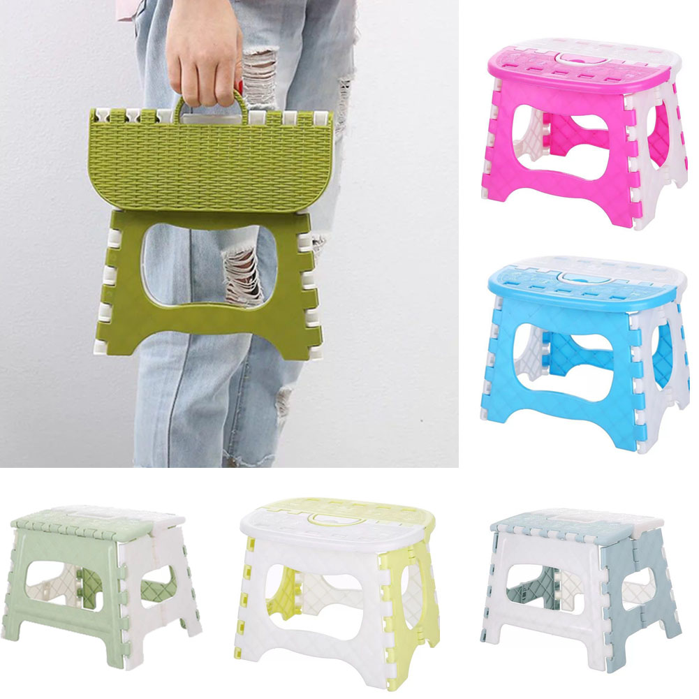 Fashion Folding Step Stool Portable Plastic Foldable Chair Store Flat Outdoor