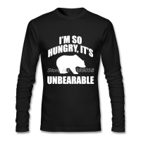 2017 New Coming Mens Vintage T Shirt I M So Hungry Plus Size Graphic Bear Tee
