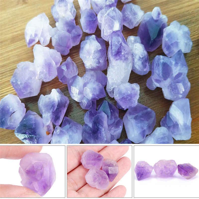 1 ピースナチュラルポイント石ペンダント振り子紫ヒーリングクリスタルチャビーズランダムサイズ Approx.2cm/0.79in
