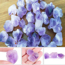 1pc Natural point stone Pendants Pendulum purple Healing Crystal Chakra Reiki Beads random size Approx.2cm/0.79in(China)