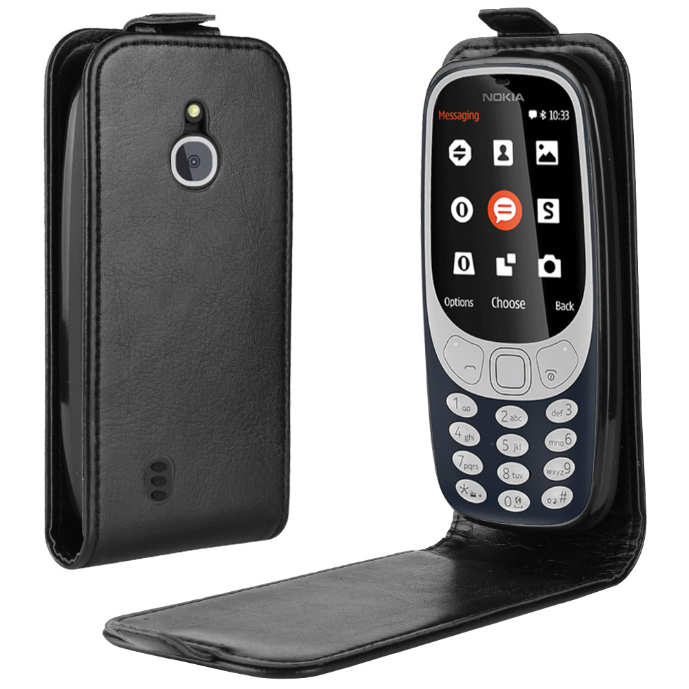 Luxury Vertical PU Leather Case <font><b>Cover</b></font> For <font><b>Nokia</b></font> <font><b>3310</b></font> <font><b>3G</b></font> 4G Flip Wallet Holster Card Slot Capa Fundas image