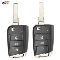 KEYECU 2 Pcs Replacement Flip Remote Key Fob for Volkswagen MQB Golf VII MK7, for Skoda Octavia A7 2017 P/N: 5G0 959 753 BC