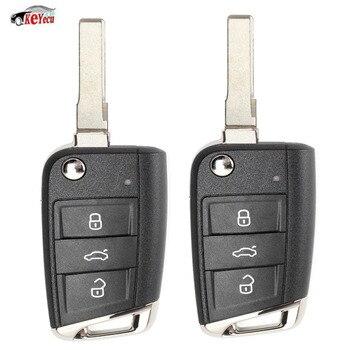 KEYECU 2 pièces Remplacement Flip Télécommande Clé pour Volkswagen MQB Golf VII MK7 pour Skoda Octavia A7 2017 P/N: 5G0 959 753 BC