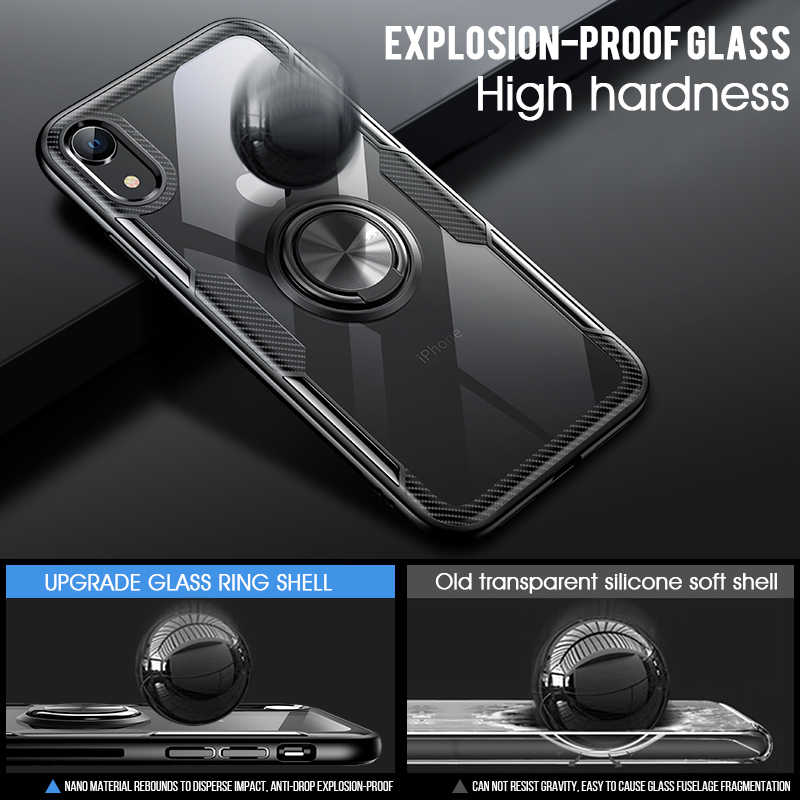 Luxury Car Holder Ring Case On The For IPhone XS Max XR X Phone Case Cover For IPhone XR X XS Max Soft Silicone Bumper Case