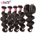 7A Peruvian Virgin Hair Body Wave with Closure 5PCS Unprocessed Virgin Hair with Closure 7a Peruvian Hair 4 Bundles with Closure
