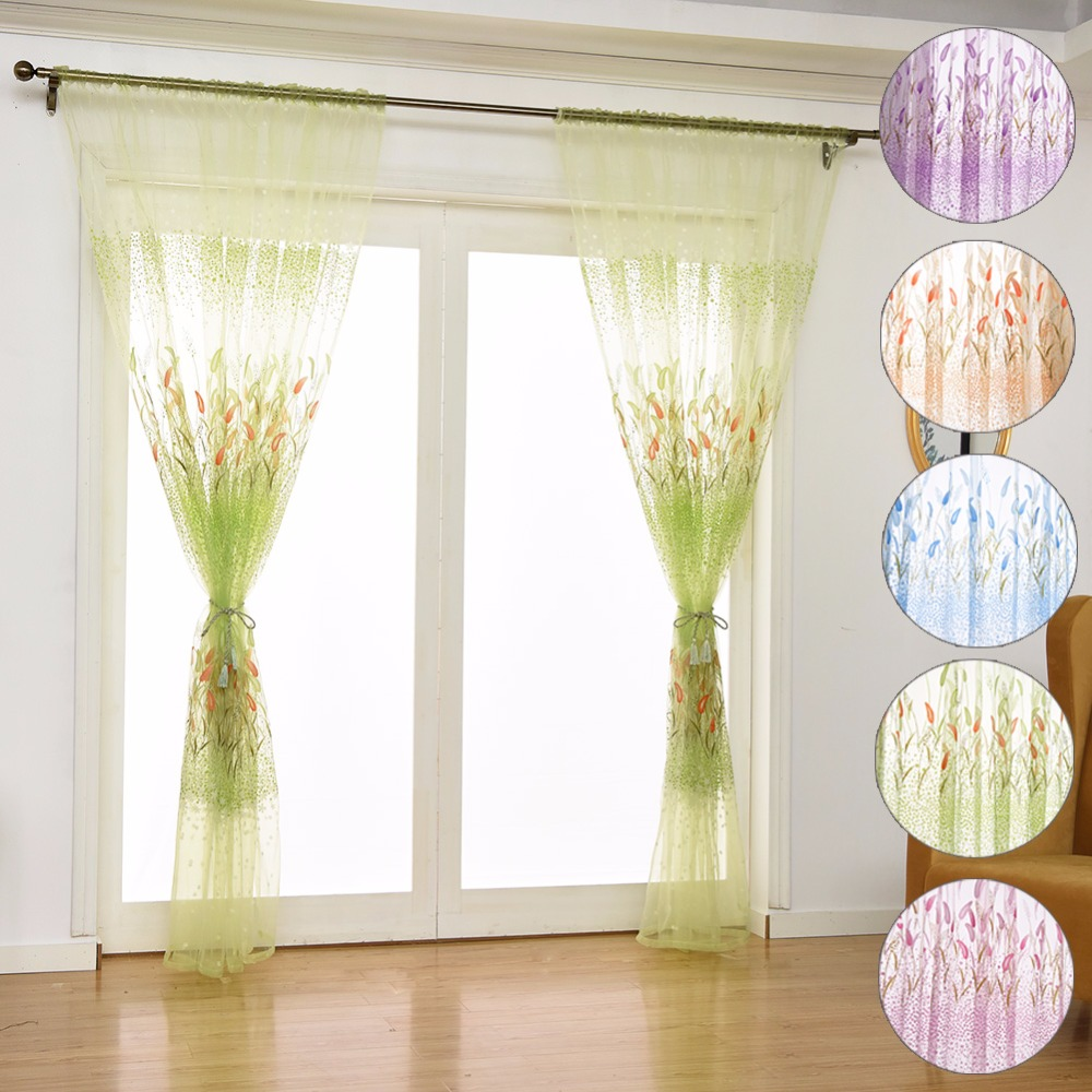 Curtain For Balcony: Aliexpress.com : Buy Printing Window Curtains Sheer