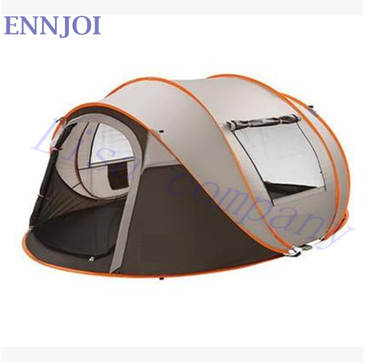 4 Seasons Outdoor Automatic Tent Camping 5-6 Persons Single Layer Family Tents Waterproof Beach Large Camping Tent alltel super large anti rain 6 12 persons outdoor camping family cabin waterproof fishing beach tent 2 bedroom 1 living room