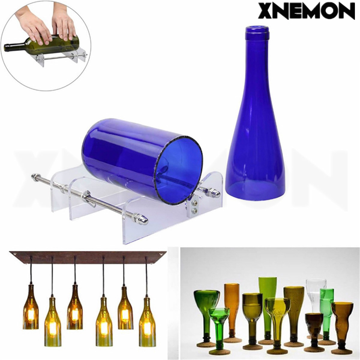 XNEMON New DIY Glass Wine Bottle Cutter Cutting Machine Jar Kit Craft Machine Recycle Tool High Quality Safety Glass Tool best price mgehr1212 2 slot cutter external grooving tool holder turning tool no insert hot sale brand new