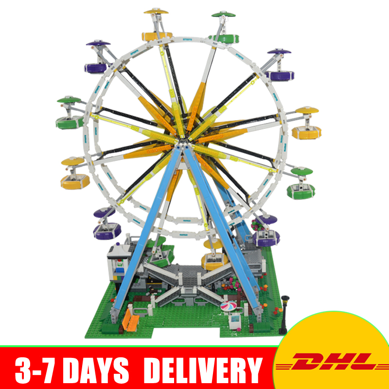 2017 New LEPIN 15012 2478Pcs City Series Expert Ferris Wheel Model Building Kits Blocks Bricks Compatible Toy Gift 10247 yks colorful balls perpetual motion revolving ferris wheel desk decor kids toy chriamas gift new sale