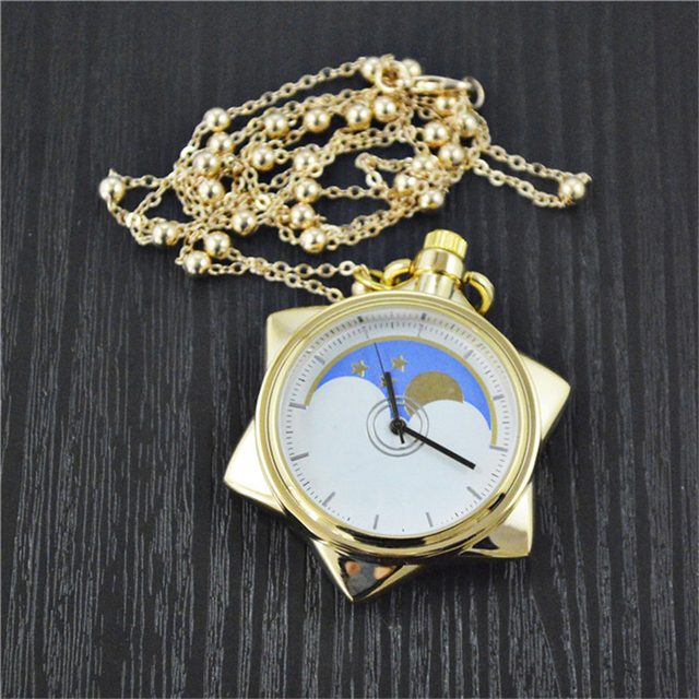 Sailor Moon 20th Anniversary Crystal Star Pocket Watch Pendant Necklace