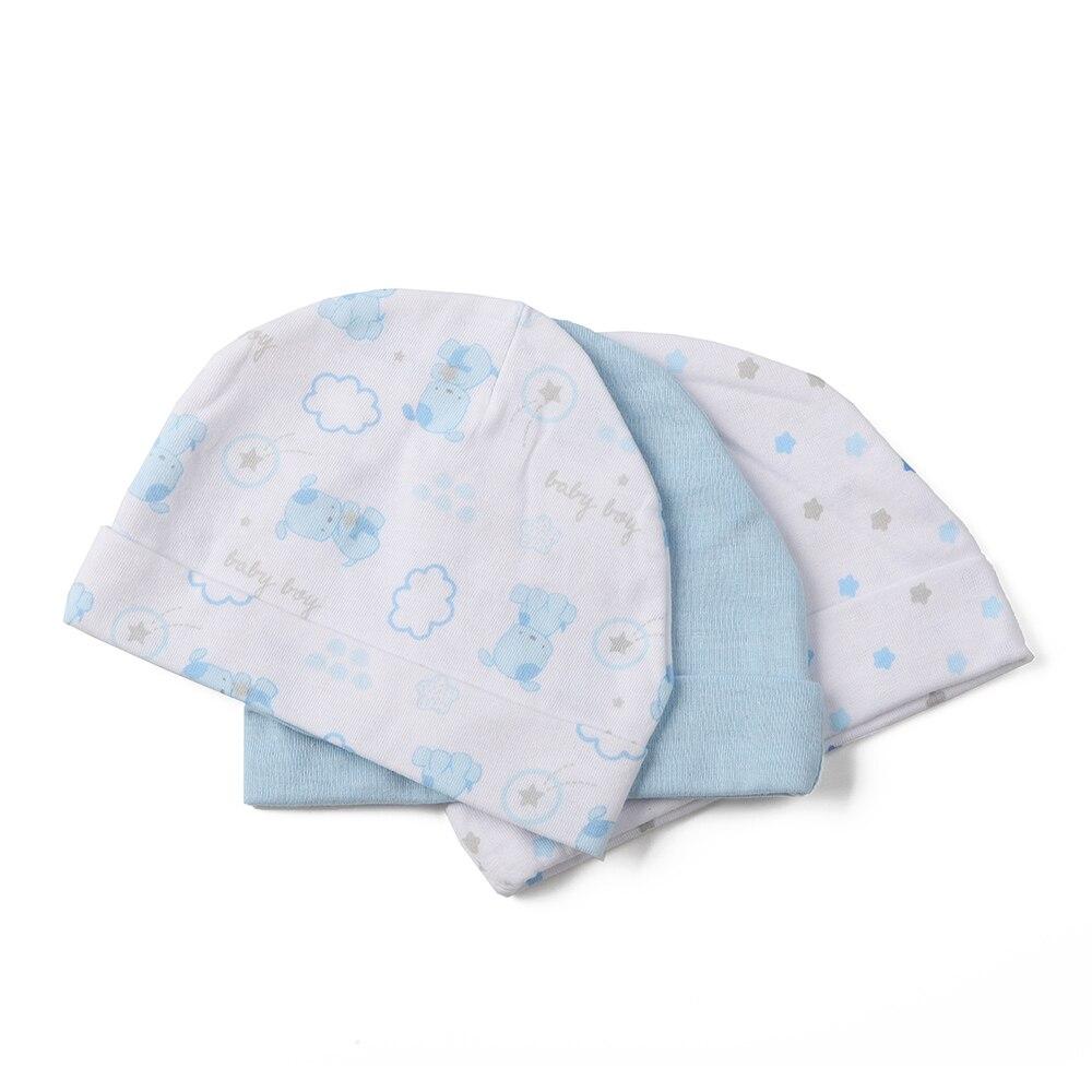 Настоящее горячая распродажа характер мужская хлопок 0- 3 месяцев 4- 6 месяцев установлены шляпы и шапки, Детские шапки, 3 упак. Шапки и кепки для детей