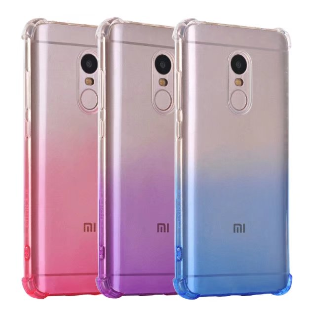 online retailer f5b59 93d0f US $3.03 15% OFF|redmi note 4 4x case silicone luxury shockproof xiaomi  redmi note4 Cover gradient Clear cristal Protector xiomi note 4 32GB  64GB-in ...