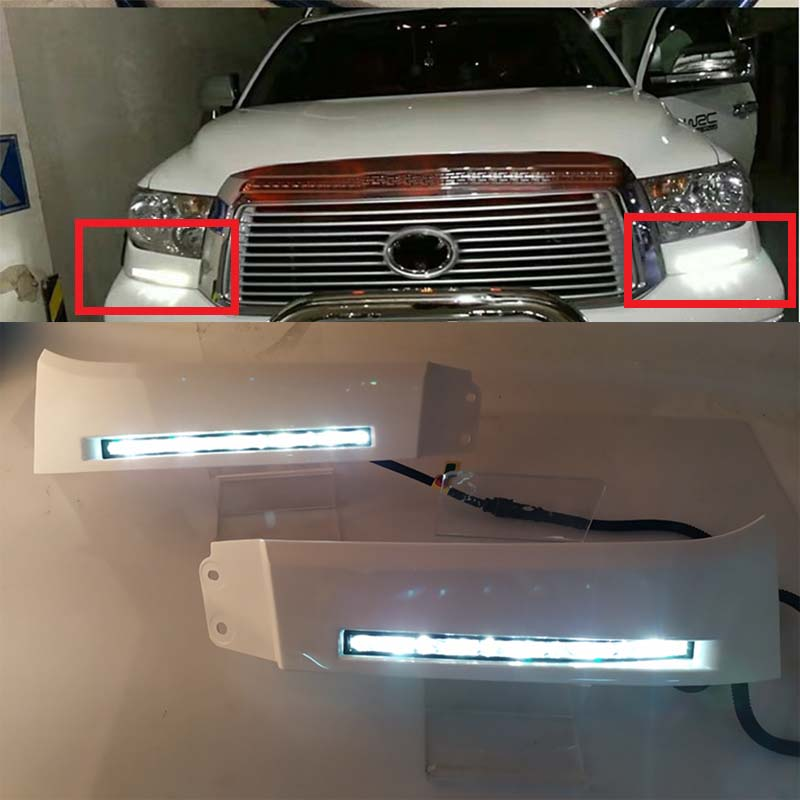 44Off Running Lamp 2007~2013 8 Daytime 12v for Dimming Toyota Drl Fog Tundra In Lights Sequoia Us72 High Style Power Relay Led And Car 2008~on XPZkiu