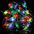 2017 Romantic 2 M 20LED Alambre de Cobre LED Cadena Luces de Hadas de la Lámpara para La Decoración LED Luces de Cadena 3 V Sun Flower Shape LED Guirnalda