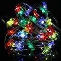2017 Romantic 2M 20LED Copper Wire LED String Fairy Lights Lamp for Decoration LED String Lights 3V Sun Flower Shape LED Garland