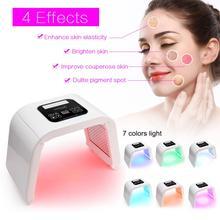 7 видов цветов светодиодный фотон света терапия Красота машина ФДТ лампа очистки регенерации кожи затянуть лица угорь против морщин Spa