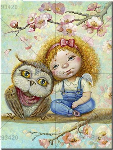 Diamond Painting Cross Stitch Cartoon girl and owl Home Decor 100 Full 5D DIY Diamond Embroidery Mosaic Pictures in Diamond Painting Cross Stitch from Home Garden