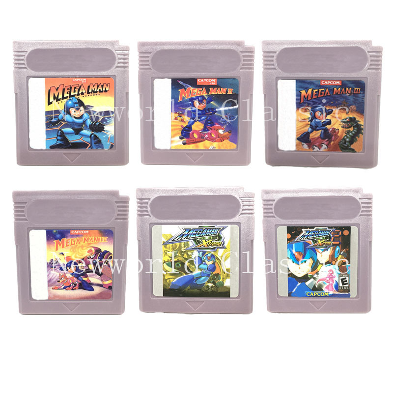 Mega Man Series for 16 Bit Game Console for Video Game Cartridge Card for General US/EU Version