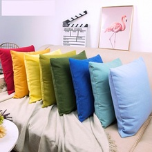 2Pcs Solid Modern Nordic polyester printed pillowcase sofa Car cushion cove office seat lumbar pillow(without core)