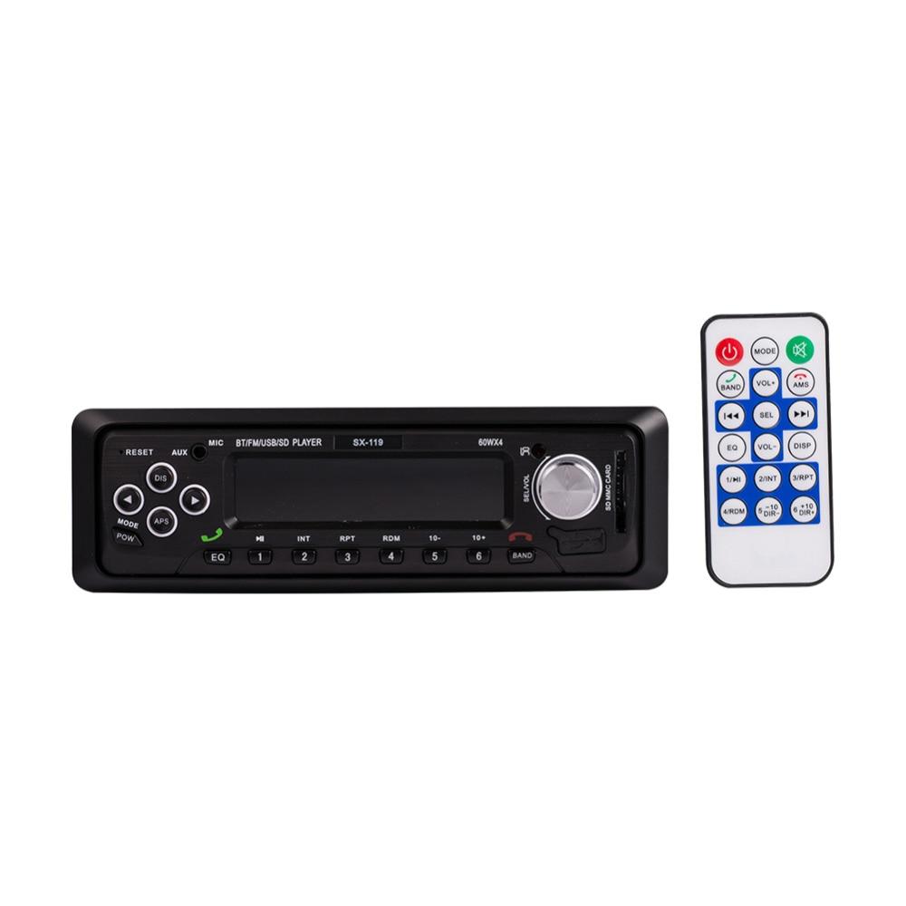 12 V voiture lecteur MP3 Bluetooth WMA Audio lecteurs de musique style Automobile Audio stéréo