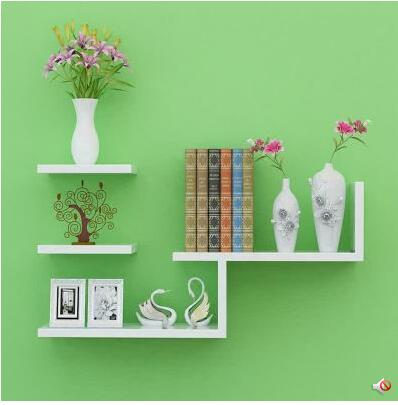 Wall shelf partition wall shelf Contemporary and contracted sitting room creative bookshelf TV setting wall hanging decoration