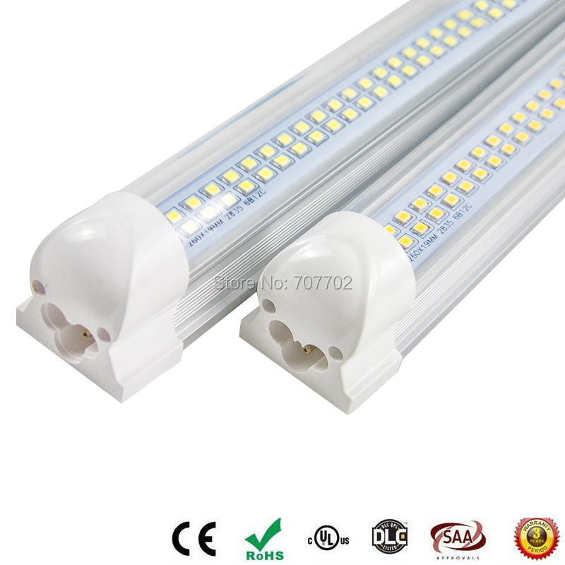 LED Integrated tube/lamp/light 2ft 18w T8 Fluorescent AC85-265V high quality 60cm Factory direct sale 2pcs t8 led tube 1200mm light 18w120cm 4ft 1 2m g13 with holder fixture high power smd2835 fluorescent replacement 85 265v