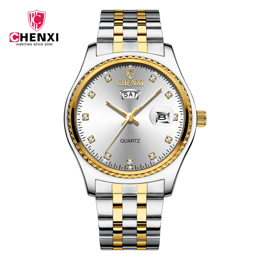 Chenxi Brand Women Luxury Quartz Watch Lady Golden Stainless Steel Watchband High Quality Casual Waterproof Watch Gift For Girl