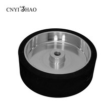 CNYISHAO Flat Rubber Contact Whell 300*100*25mm Smooth Abrasive Sanding Belt Wheel for Polishing and Grinding