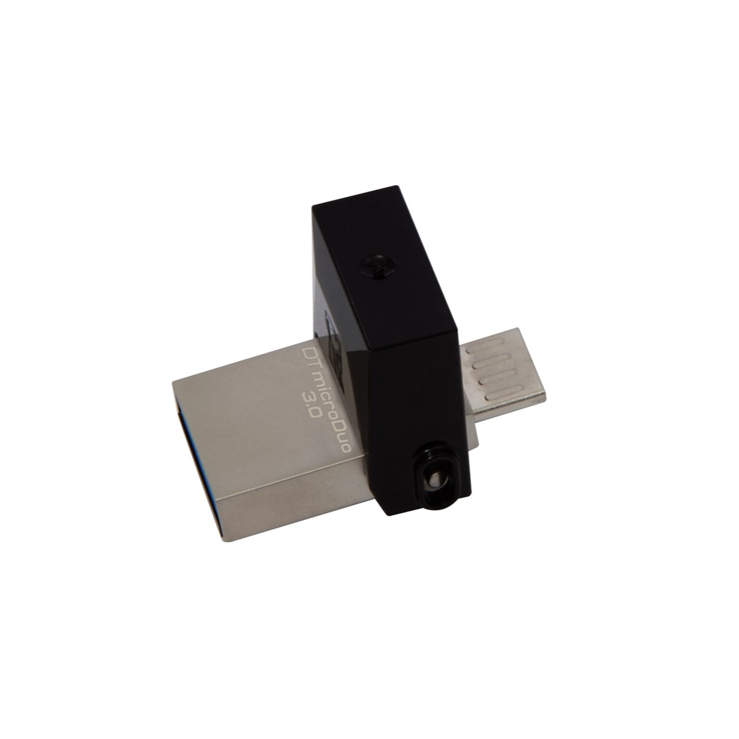 Kingston Technology DataTraveler 16GB MicroDuo 3.0, 16 GB, 3.0 (3.1 Gen 1), USB Type-A Connector, Swivel, Black