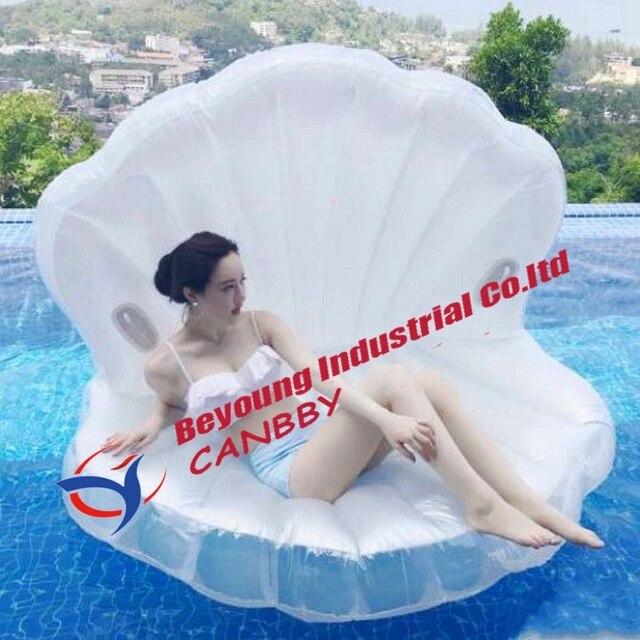 Salotto Galleggiante Gonfiabile.Us 43 96 Bianco Perla Capesante Gigante Gonfiabile Seashell Piscina Galleggiante Raft Salotto A Conchiglia Guscio Gonfiabile Piscina Zattera