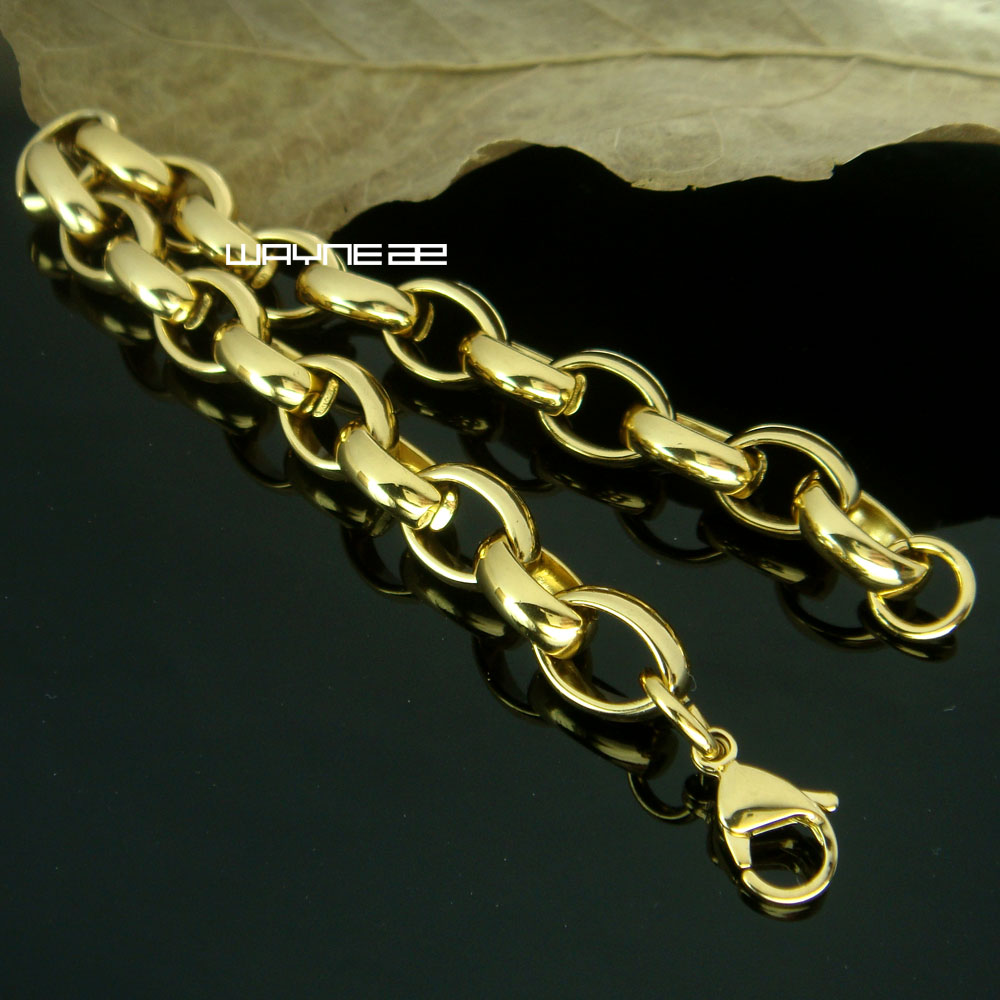 (b169) Men Stainless Steel classic Bracelets