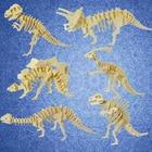 Funny 3D Simulation Dinosaur Skeleton Puzzle DIY Wooden Assembled Dinosaur Puzzle Educational Toys For Children