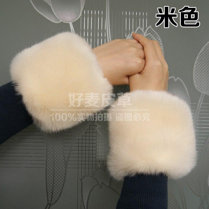 - Dicke Warme Frauen Faux Pelz Handgelenk Armmanschette Frauen Mädchen Armband Furry Wärmer Erstaunliche Mode Oversleeve Profitieren Sie Klein Offen 20 Farben